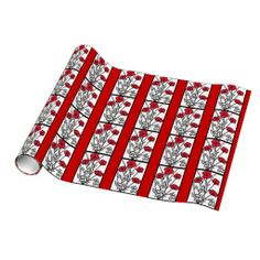 Red Poppies Gift Wrap Paper