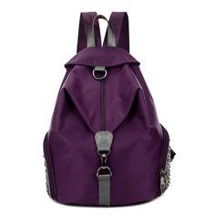 2017 New Women Backpacks Fashion Female Travel Bag Waterproof nylon Backpacks College School Backpacks Travel Backpack, Backpack Bags, Leather Backpack, Nylons, School Bags For Girls, School Backpacks, New Woman, College School, Stuff To Buy