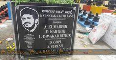 Karnataka Ajith Fans installing ShivaLingam Name of #ThalaAjith