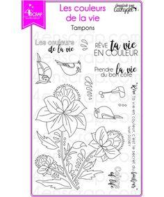 """Le set de tampons """"Les couleurs de la vie"""" #4enscrap"""
