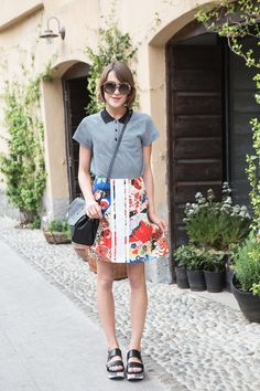 Blogger Ella from La Petite Anglaise dressed in Graziashop.com - 48 hours in Milan!