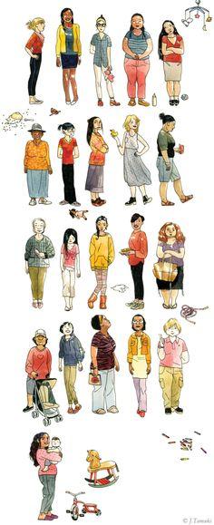 Jillian Tamaki e la gioia dell'illustrazione Magazine Illustration, Illustration Art, Magic Academy, Sketches Of People, School Of Visual Arts, Sketches Tutorial, Comic Drawing, Calgary, Illustrations Posters
