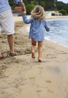 Daddy & Daughter at the Beach