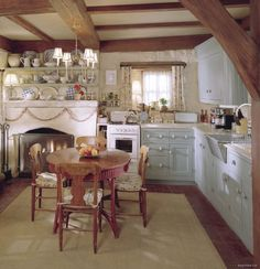 """Rosehill Cottage"" - 'The Holiday' film set; Shere, Surrey, England — via OutNow.Ch — Kitchen"