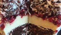 Chocolate Jam-n-Cream Lamington Cake - Cakeophilia Lamington Cake Recipe, Big Chocolate, Sponge Cake, Cake Recipes, Cheesecake, Cooking Recipes, Cream, Desserts, Food