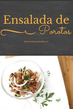 La ensalada de porotos con cebolla es un clásico del verano chilenos y la temporada de asados. Puedes usar porotos nuevos o viejos.