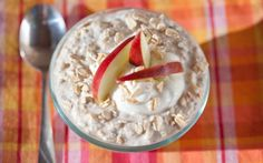 Apple Pie Overnight Oats with Holy Crap cereal