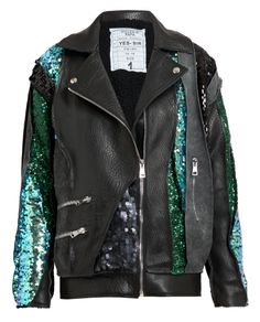 Chic & Whimsical! The Filles a Papa embellished leather jacket is concert-ready! www.brownsfashion.com #booZhee booZhee.com