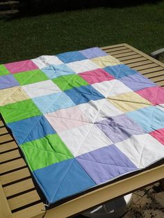 Flannel Kid's Quilt Baby Shower Gift by SleepingCatCreations