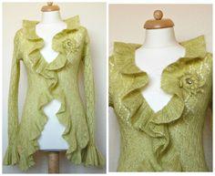 MOHAIR Cardigan.Mohair sweater.Mohair coat. Knit cardigan. Wedding shrug. Wedding cape. Bohemian clothing. Lace cardigan. Hand knit cardigan by NinElDesign on Etsy