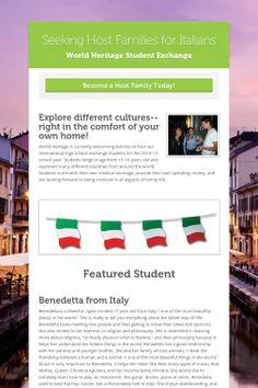 Seeking Host Families for Italians