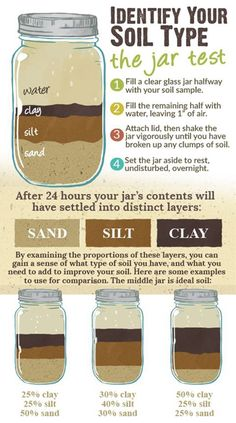 Mason Jar Soil Test