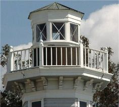 Someday on my beach house I'll have a widow's walk around a tower!!