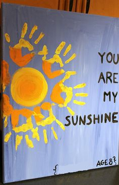 You are my sunshine kids craft - alternate the boys handprints for a fun effect.