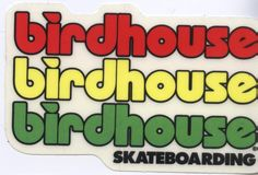 Buy directly from the world's most awesome indie brands. Birdhouse Skateboards, Skateboard Logo, Tony Hawk, Logo Sticker, Indie Brands, Bird Houses, Surfboard, Surfing, Stickers