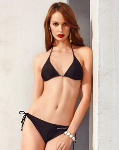 #VIPme (VIPSHOP Global) - #Atlanticbeach Black Summer Nylon Two-Piece Swimsuit - AdoreWe.com