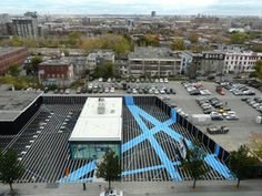 This landscape project in montreal canada is completely devoid of