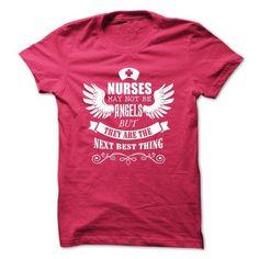 Nurse and Angel T Shirts, Hoodies. Check price ==► https://www.sunfrog.com/LifeStyle/Nurse-and-Angel.html?41382