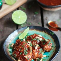 Sweet And Sour Sticky Thai Boneless Oven Baked Chicken Wings