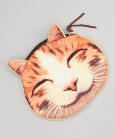 Beige Smiling Cat Coin Purse | zulily