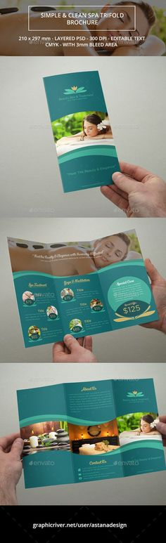 Keep a simple and clean spa brochure design look