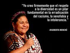 Rigoberta Menchu, Nobel de Paz en 1992 por su lucha indigenista. Guatemala