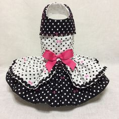 A personal favorite from my Etsy shop https://www.etsy.com/listing/263667293/black-and-white-polkadots-dog-dress
