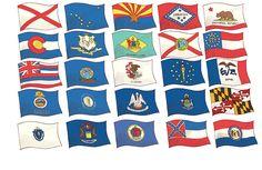 My USA Road Trip - Barbara Bongini #flags #USA #states #childrensbook #roadtrip #driving #kidlitart #raiseareader #read #books #education #resources #teachers #illustration #barbarabongini