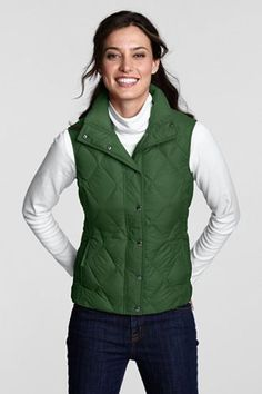 Lands End diamond quilted down vest
