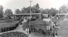 Here's a view of the Interurban station at Pomona Park. The picture was taken from the walkway in front of the Pavilion. Fruitport, Michigan, US