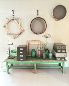 VTwonen huis | groen gestyled bankje | Peet likes