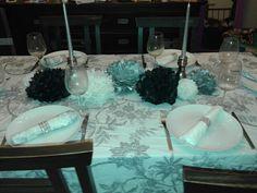 Mesa para cena, con una combinación de colores muy elegante.