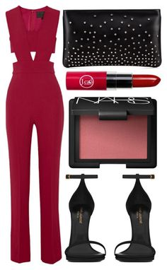 street style by sisaez ❤ liked on Polyvore featuring Cushnie Et Ochs, Yves Saint Laurent, NARS Cosmetics and Christian Louboutin