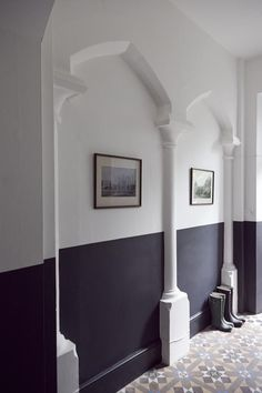 Ten Examples of Paint Used Beautifully  |  Half painted walls – a perfect choice to keep walls looking fresh in high traffic areas. Photo via jjLocations.