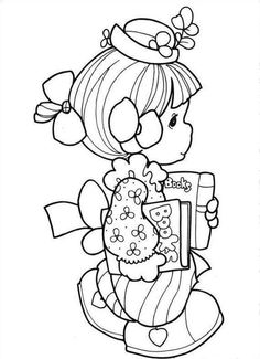 Precious Moments Animals Coloring Pages | Precious Library Moments Coloring Page | Coloringplus.