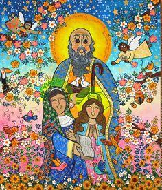 São Joaquim , Santa Ana e Maria . Andreza Katsani Santa, Painting, Grandparents Day, Religious Art, Frames, Painting Art, Paintings, Painted Canvas, Drawings