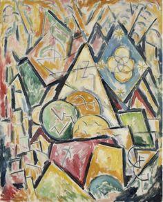 """Painting No. 2,"" Marsden Hartley, 1913, oil on canvas, 45 1/8 x 37 1/2"", Weisman Art Museum."