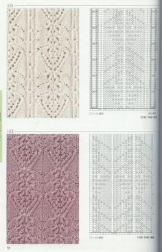 Many intricate cable & lace charts    Link: http://make-handmade.com/2011/06/02/beautiful-patterns-knitting/