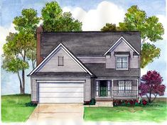 Colonial Country Farmhouse Traditional House Plan 56407