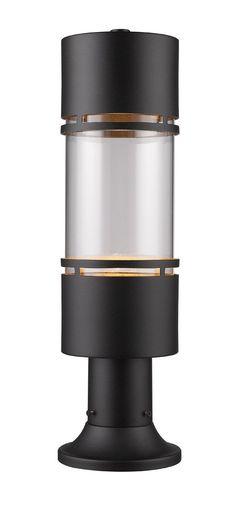 Z-Lite 553PHB-553PM-BK-LED Luminata LED 22 inch Black Outdoor Post Light