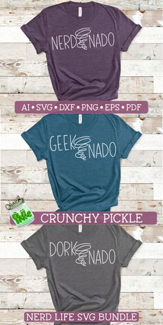 This is a set for all of your Nerd Life needs. Easy to cut SVG files are ready to for any DIY project using your Cricut or Silhouette cutting machine. - Affiliate Link to my own design. Popsicle Stick Crafts, Popsicle Sticks, Nerd, Diy Cutting Board, Studio Software, Photography Tips For Beginners, Tornados, Diy Shirt, Heat Transfer Vinyl