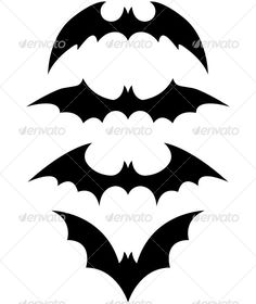 template for cutting out black paper bats