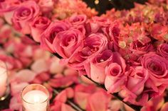 LOVE the pink! and the BLING in the flowers!! David Tutera is a GENIUS! <3 him  #RobbinsBrothers #GetEngaged