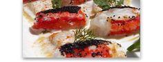 Cangrejo Real a la plancha con semillas de amapola y raviolis de manzana rellenos de foie