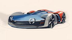 Alpine Vision Gran Turismo Concept Design Sketch by Andrey Basmanov