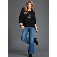 Flared Bootcut Jeans - Large Size Clothing and Maternity Wear - www.plussizedglamour.co.uk