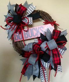 SALE OSU Wreath Ohio State Wreath Go Bucks Wreath by WreathyWoman