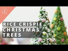 Rice Krispie Cone Christmas Trees | Lauren Caris Cooks