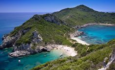 Corfu beach - Greek Isles www.captaintheocorfu.net Cruises Services