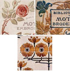 Embroidery Motifs from the Antique Pattern Library. Patterns, examples, and inspiration.